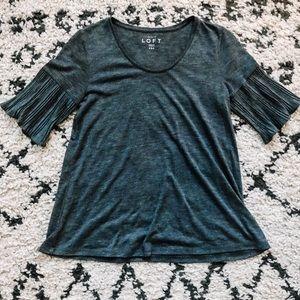 Ann Taylor Loft Pleated Sleeve Shirt